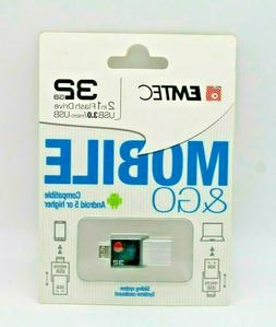 EMTEC MOBILE 32GB - USB 3.0 / MICRO 2.0 - TWO in ONE FLASH D