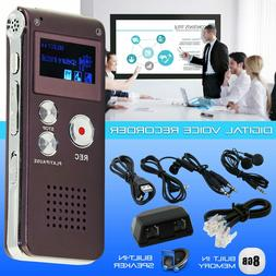 8GB Rechargeable USB LCD Digital Spy Audio Voice Recorder Di