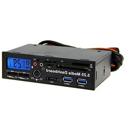 """Awolf 5.25"""" Multi-function PC Front Panel Media Dashboard 2"""
