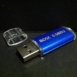 New 32GB 32G USB 2.0 Memory Stick Flash Mini Thumb Drive BLU