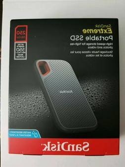 NEW SanDisk Extreme 250GB External USB 3.1 Portable Solid-St