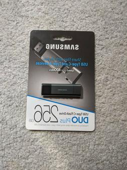 New Samsung USB 3.1 Flash Drive DUO Plus 256GB MUF-256DB/AM