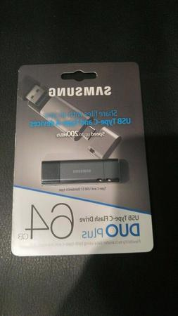 NEW Samsung USB Type-C & A-Type 3.1  Flash Drive DUO Plus 64
