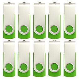 Generic Usb Flash Drives 8GB Bulk 10 Pack in Green - Budget