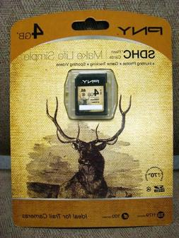 PNY P-SDHC4G4-EF/WM SD Card Ideal for Trail Cameras