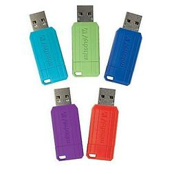 Verbatim PinStripe 32GB USB 2.0 Flash Drives Assorted Colors