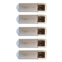 Patriot 16GB Pulse Series USB 2.0 Flash Drive, 5 Pack - Silv