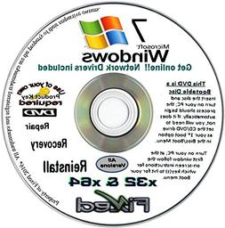 Recovery disc compatible w/ All Versions of Windows 7 Recove