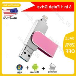 Rotating USB Flash Drive 3IN1 For iPhone/Android/PC OTG Memo