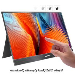 """SIBOLAN S6S 15.6"""" Touchscreen Portable Monitor 1080p with US"""