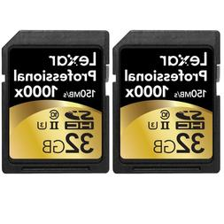 Lexar Professional 32 GB SDHC - Class 10/UHS-II 2 Pack - 100