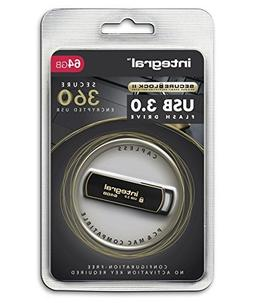 Integral 64GB Secure 360 Encrypted USB3.0 Flash Drive