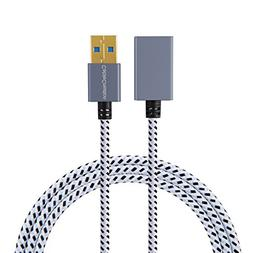 CableCreation 3.3 FT USB 3.0 Extension Cable, USB Male to Fe