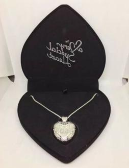 silver necklace usb flash drive beautiful heart