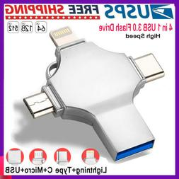 Silver Photo Stick Flash Drive Memory USB3.0 For iPhone 6/7/