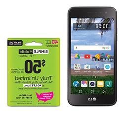 Simple Mobile LG Rebel 2 4G LTE Prepaid Smartphone with Free