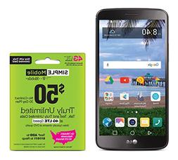 Simple Mobile LG Stylo 3 4G LTE Prepaid Smartphone with Free