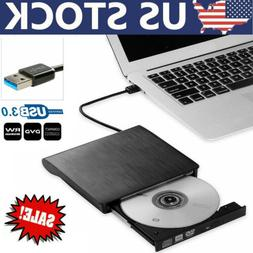 Slim External CD DVD Drive USB 3.0 Disc Player Burner Writer