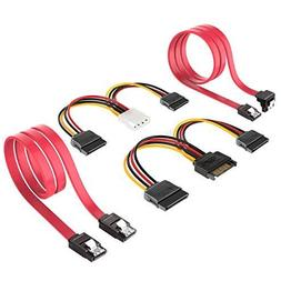 SSD/SATA III Hard Drive Connection Cables , 4 Pack