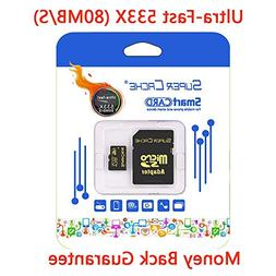 SuperCache Turbo Performance 128G High Speed Micro SDXC by E