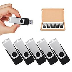 TOPSELL 5 Pack 32GB USB 3.0 Flash Drive Memory Stick Thumb D