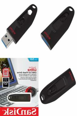 SanDisk Ultra 16 GB USB 3.0 Flash Drive Up to 100MB/s- Old E