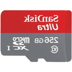 SanDisk Ultra 256 GB Micro SD XC UHS-I Card Class 10 Memory