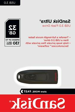 SanDisk Ultra 32 GB USB 3.0 Flash Drive Up to 80MB/s