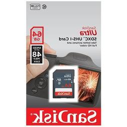 SanDisk Ultra 64GB Class 10 SDXC UHS-1 Memory Card up to 48M
