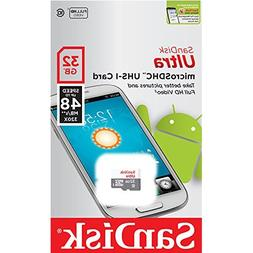 Sandisk Ultra 32GB Class 10 UHS-1 MicroSD MicroSDHC Card wit