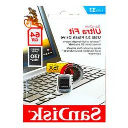 SanDisk 64GB Ultra Fit USB 3.1 Flash Drive - SDCZ430-064G-G4