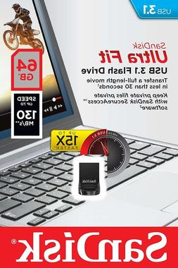 SanDisk Ultra Fit 64GB USB Flash Drive