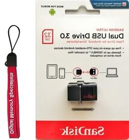 SanDisk 32GB Ultra Micro USB 3.0 OTG Flash Dual Drive Stick