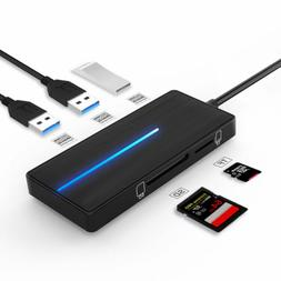 Kootion Ultra Slim 3-Port USB 3.0 Data Hub Type A USB Flash