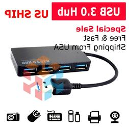 Ultra Slim USB 3.0 4-Port Data Hub Super Speed Transfer up t