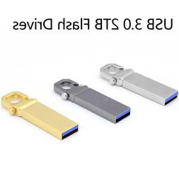 USB 2.0 2TB Flash Drives Memory Metal Drives Pen Drive PC Ne
