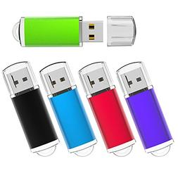 KEXIN 5 Pack 32GB USB 2.0 Bulk Flash Drives Thumb Drive Mult