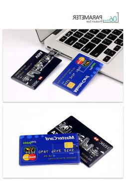Credit Card 16GB 32GB USB 2.0 Flash Memory Stick Storage Thu