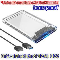 """USB 3.0 2.5"""" Hard Drive Enclosure SATA3 5gbps Caddy Case For"""