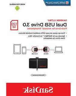 SanDisk 128GB USB 3.0 to microUSB OTG Ultra Dual 150MB/s for