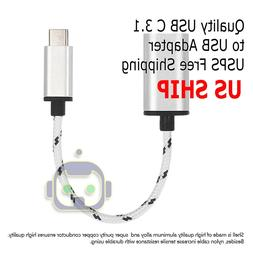 USB-C 3.1 Type C Male to USB 3.0 Silver Adapter OTG Data Syn