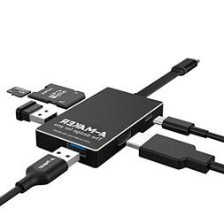 USB C Hub, A-Maker  Type-C Hub USB-C 3.1 to HDMI Adapter 4K+