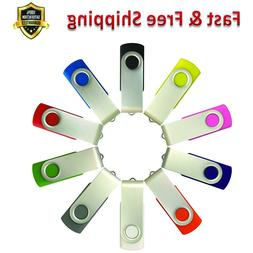 USB Flash Drive 8GB Multi Color Memory Stick Zip Drive 10 Pa