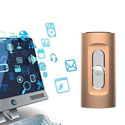 USB Flash Drive 128GB for iPhone/Android/PC Series, 3 in 1 i