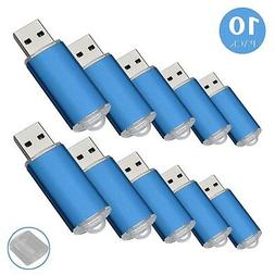 RAOYI 10Pack 1GB 1G USB Flash Drive USB 2.0 Memory Stick Bul