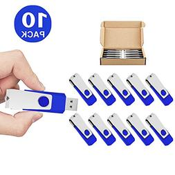 TOPSELL 10 Pack 2GB USB Flash Drives Flash Drive Flash Memor