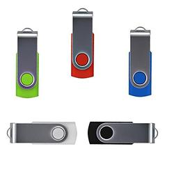5 x Enfain 2GB USB 2.0 Flash Memory Stick Drive Bulk Thumb D