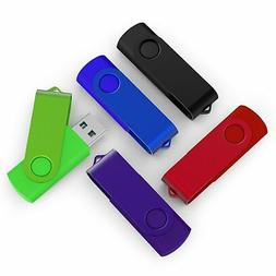 TOPSELL 5 Pack 8GB USB Flash Drives Thumb Drives Memory Stic