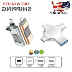 USB Flash Thumb Drive Memory Photo Stick For iPhone Android