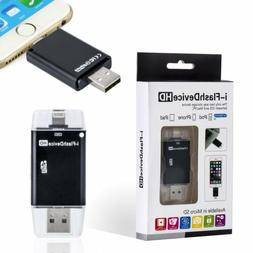 USB i-Flash Drive HD Micro SD Memory Card Reader Adapter For